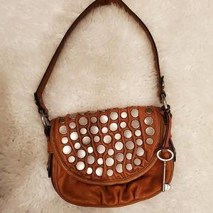 Fossil Fifty Four Rachel brown flap purse